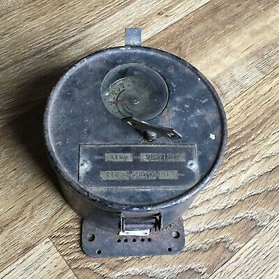 VINTAGE INDUSTRIAL ALARM CLOCK, FOREIGN TIMING PIECE.