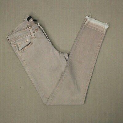 Flying Monkey Skinny Jeans Women's Size 26 Released Fray Hem Moroccan Sky Wash