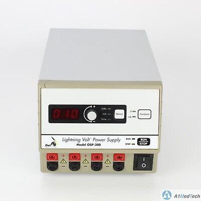 Owl Osp-300 Lightning Volt Electrophoresis Power Supply 10 To 300v