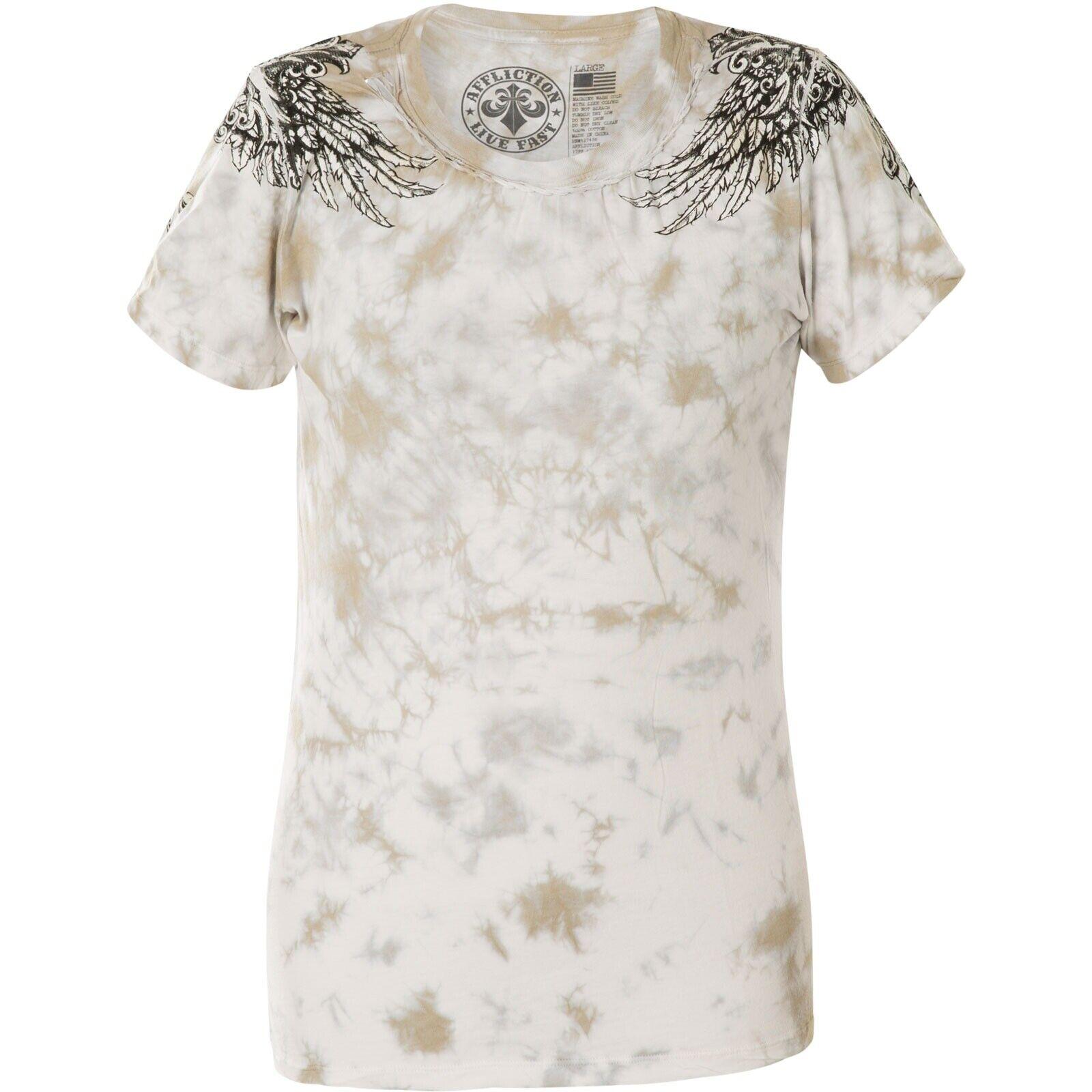 Rundhals Vinizi Damen T-Shirt Print Shirt weiß verschiedene Größen