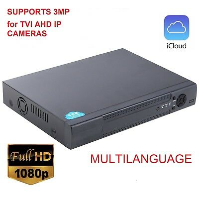 5 in 1 TVI -DVR 8CH 1080N AHD-NH DVR Hybrid DVR/1080P IP NVR Video Recorder usa