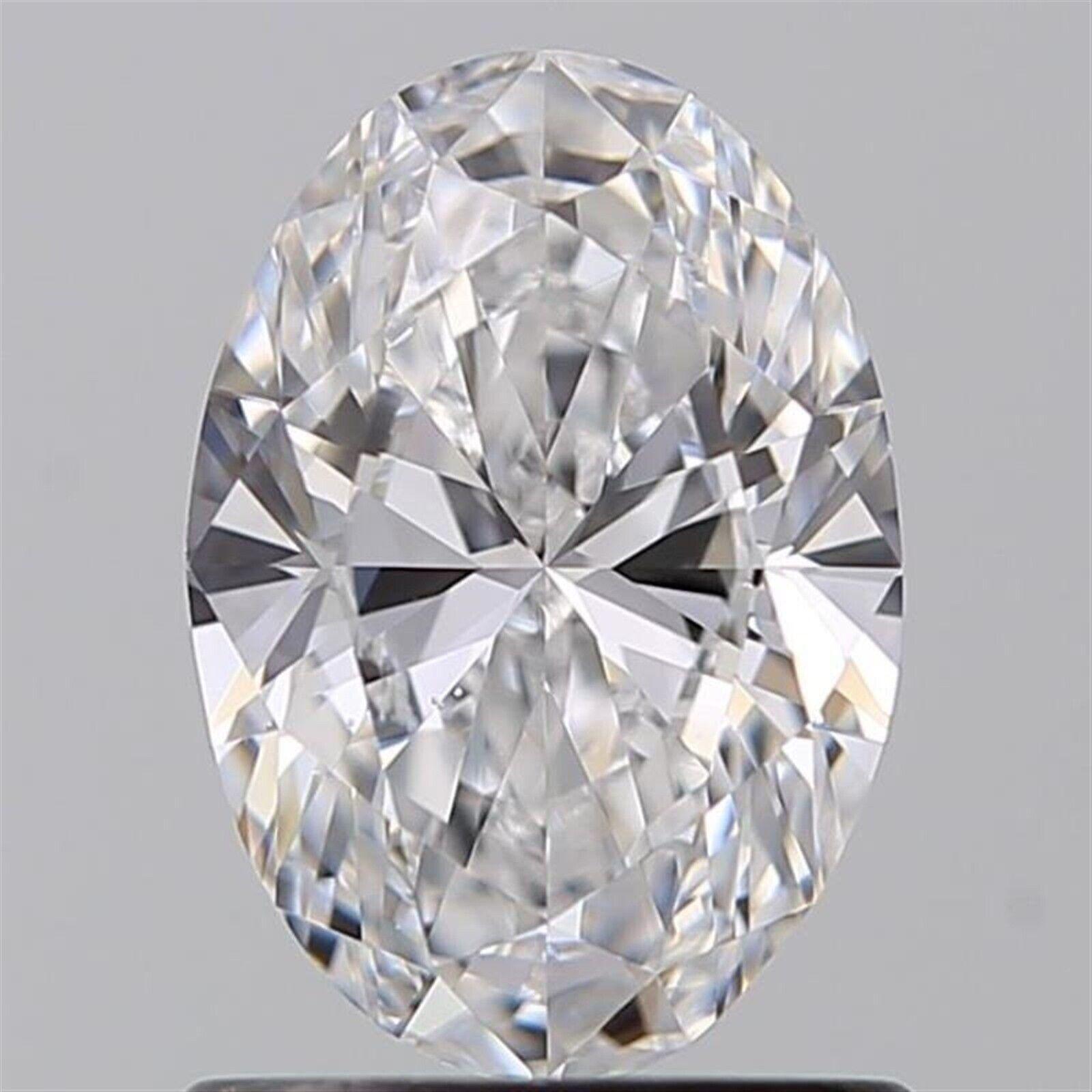 1.01 ct D Color SI1 Clarity Oval 100% Natural Loose Diamond EX Cut GIA FL Medium