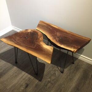 Two Black Walnut Tables
