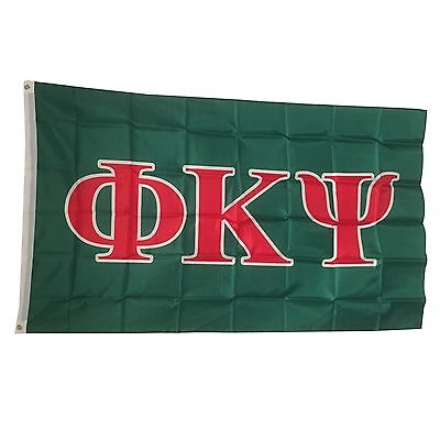 Phi Kappa Psi Letter Flag 3' x 5' - Indoor/Outdoor Use!