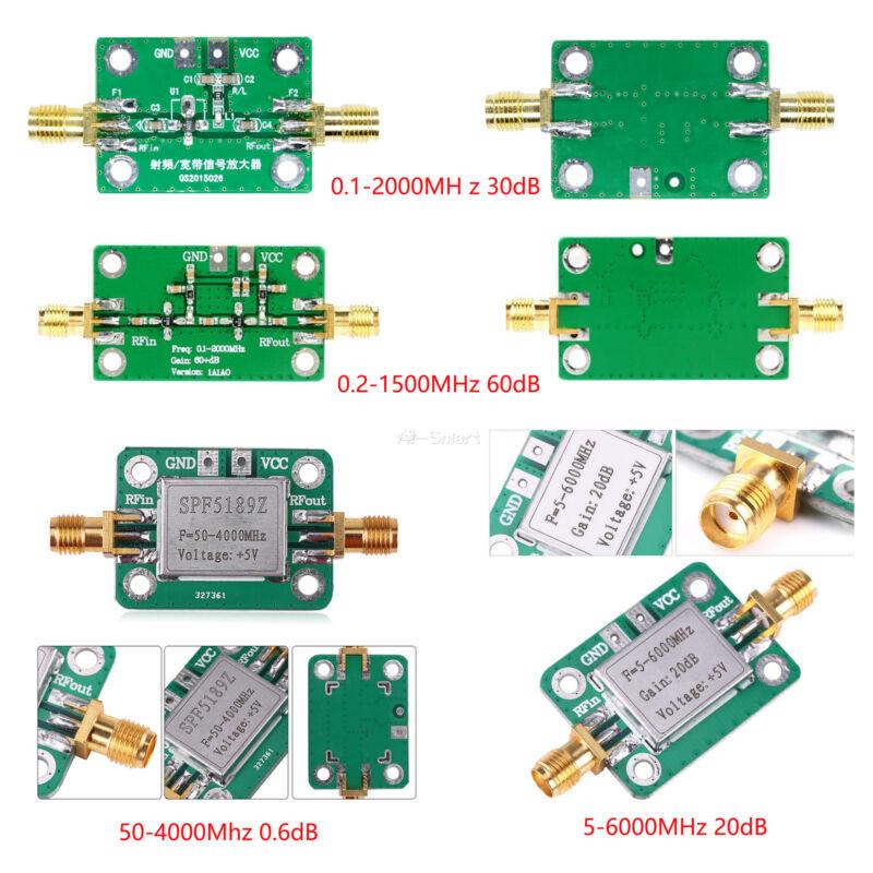 0.1-6000MHz RF Amplifier Board LNA Broadband Signal Receiver Low Noise Module