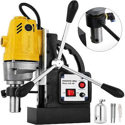 Vevor Md40 Magnetic Drill Press 1-12 Boring 40mm Electric Magnet Force Tapping