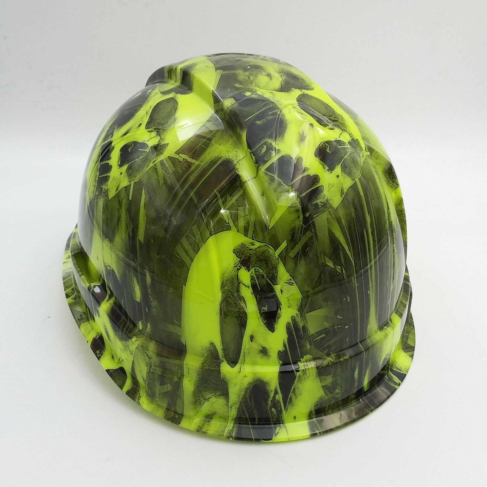 Hard Hat CAP STYLE custom hydro dipped , OSHA approved MELTING SKULLS NEW 3