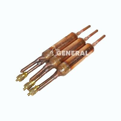 Copper Solder Filter Drier 25 Grams Wsilica With Access Valve 14 Inches 3 Pcs