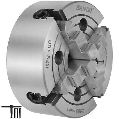 K72-160 6 4 Jaw Lathe Chuck Independent Independent Milling Machine 160mm