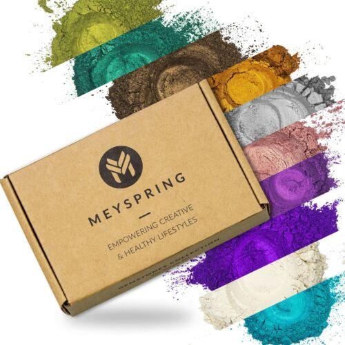 MEYSPRING Gemstones Collection Mica Powder Set - Epoxy Resin Color Pigments