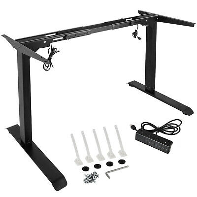 Electric Stand Up Desk Frame W Dual Motor Height Adjustable Standing Table Base