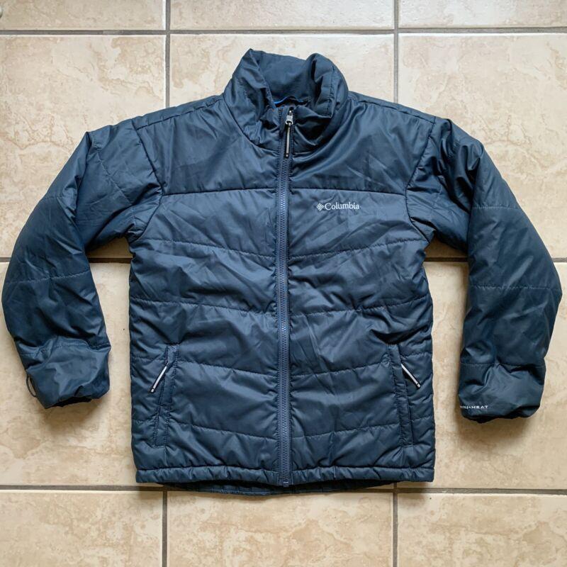 Boys Columbia Full Zip Jacket Sz Medium - Omni Heat Lined -5.49