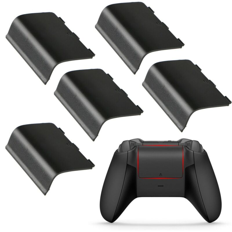 5 Xbox One Battery Cover Back Lid Wireless Controller Replacement Black
