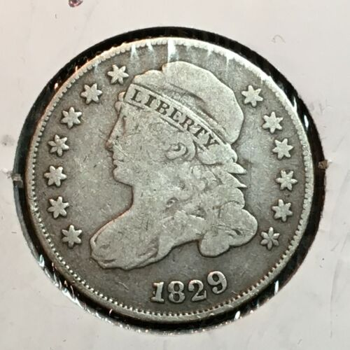 1829   Fine+   Capped Bust Dime  Nice Coin  #1