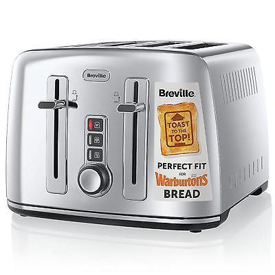 Breville VTT571 Perfect Fit Collektion 4 Scheiben Toaster Edelstahl 2000W