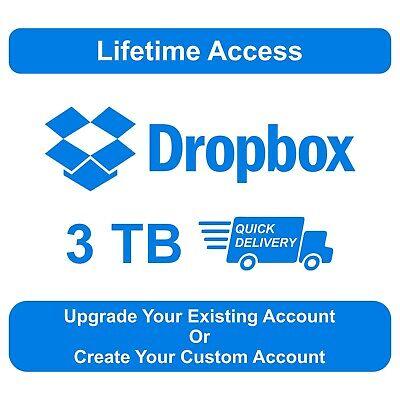 3tb Dropbox Premium Lifetime Account Upgrade Existing Account 100 Secure