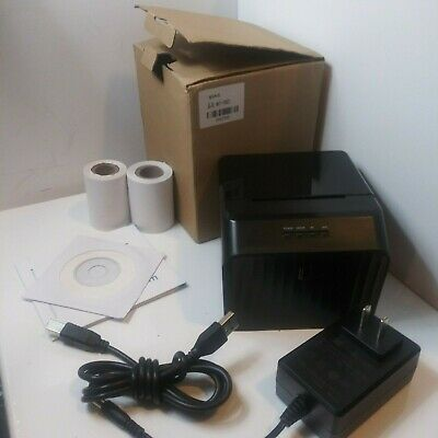 Mini 58mm Thermal Receipt Printer Usb Cable For Qr Code Barcode Sticker