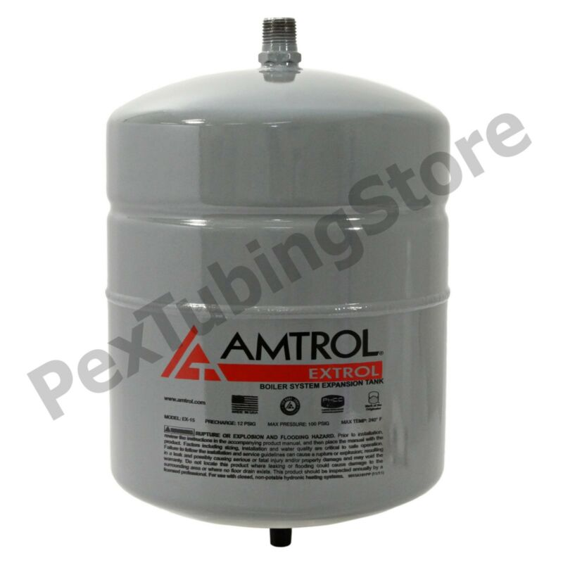 Amtrol Extrol EX-15 Boiler Expansion Tank, 2.0 Gallon Volume, #101-1