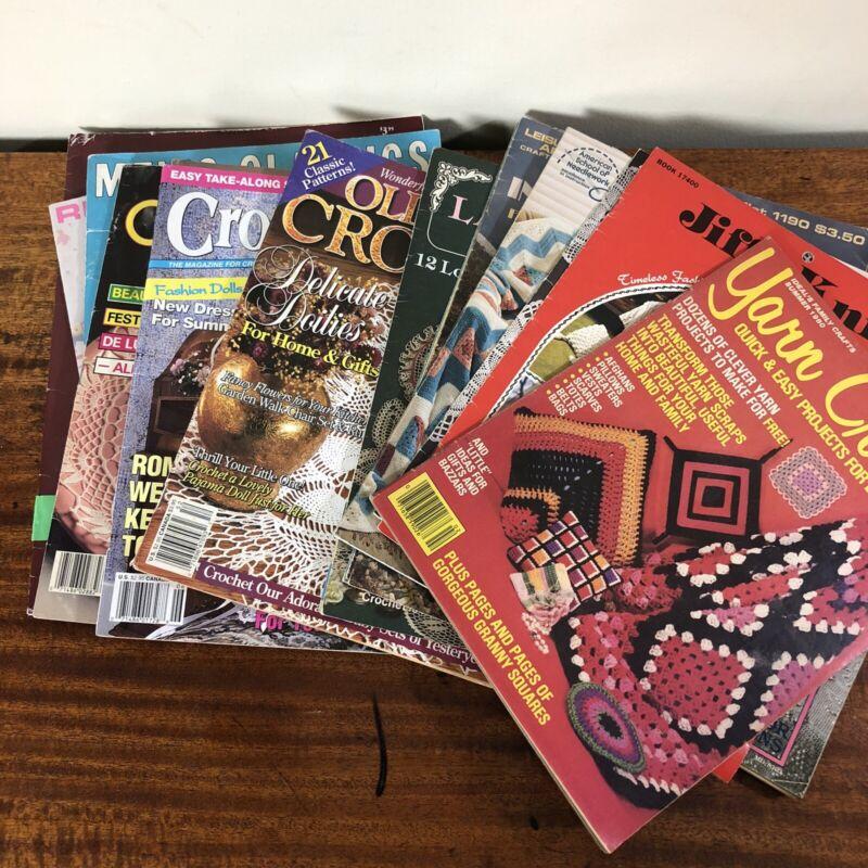 Vtg Knitting & Crochet Patterns Magazines / Leaflets Lot of 18 - Doilies, Afghan