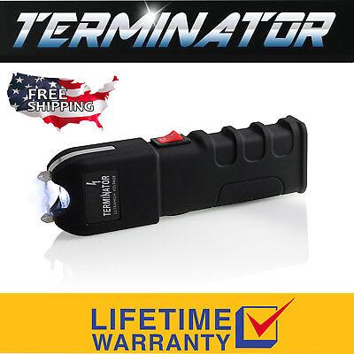 Terminator Stun Gun Max Power Police Flashlight Stun Gun With Taser Holster