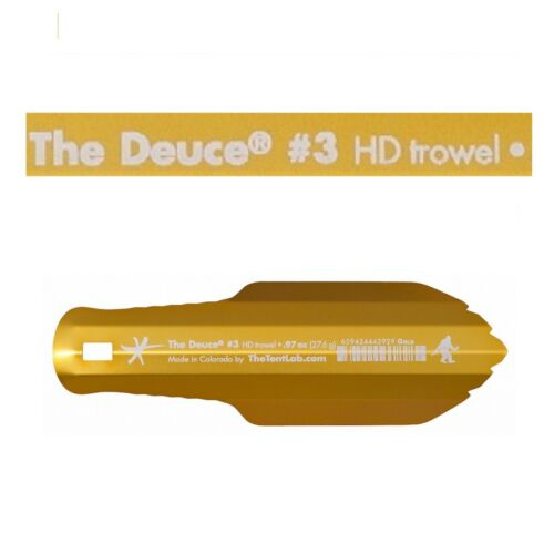 The TentLab Deuce(R) #3 Backpacking Camping Trowel New And Improved .97 oz GOLD