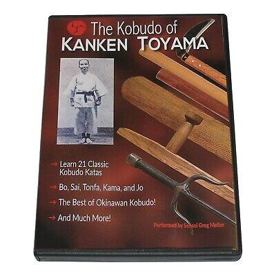 Japanese Okinawan Karate Kobudo of Kanken Toyama Sai Tonfa Jo Bo Kama DVD Mellor
