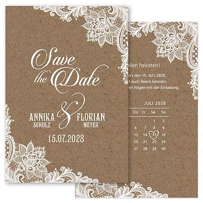 Save the Date, Einladungskarte für Hochzeit – Spitze 2  ()