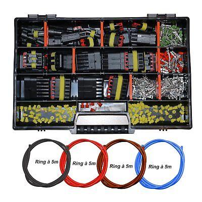 AMP Superseal Starter Set Sortimentskasten Stecker 1-pol - 6-pol  KFZ LKW Kabel