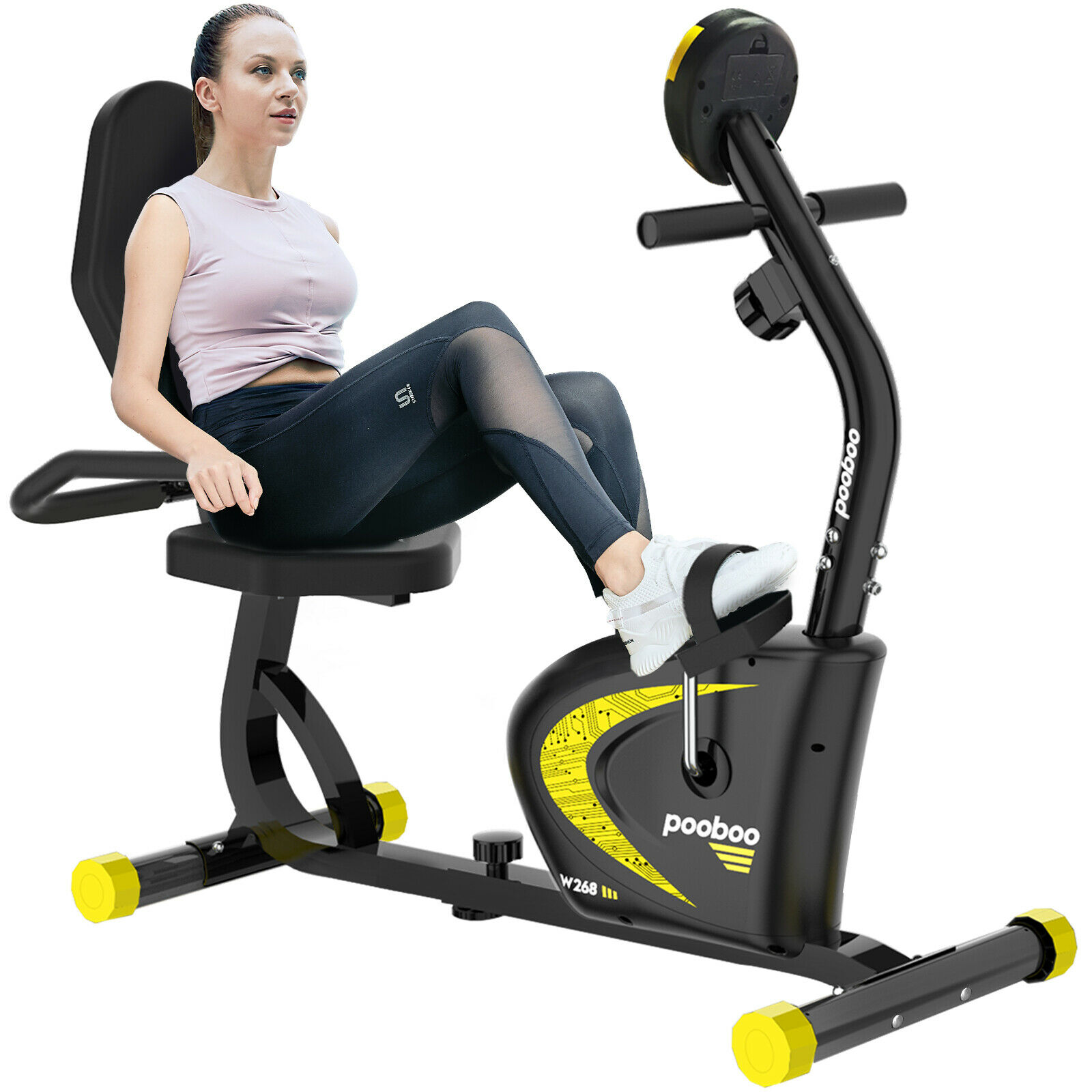 Indoor Adjustable Magnetic Resistance Cycling Stationary Rec
