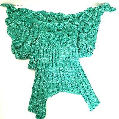 LAGHCAT Mermaid Tail Blanket Knitted Mermaid Throw Blanket