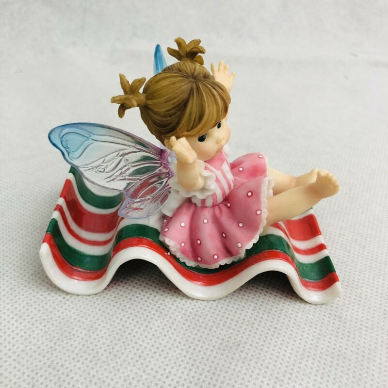"Little Kitchen Fairies Ribbon Candy Slide Fairy 3"" Figurine by Enesco 2006"