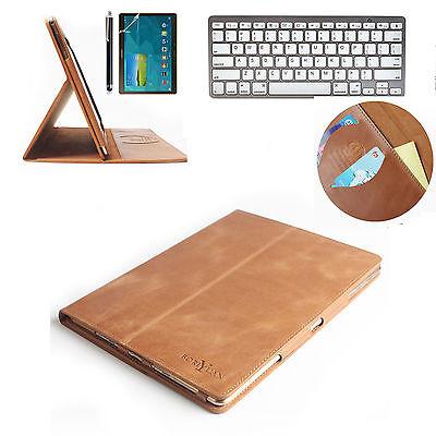 Samsung Galaxy Tab S 10.5 T800 T805 Genuine Leather Case+ Bluetooth keyboard
