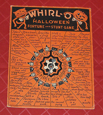 vintage Halloween WHIRL-O FORTUNE AND STUNT GAME