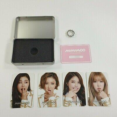 MAMAMOO Official Original Concert Goods Logo Ring Photocard set K-POP Opened