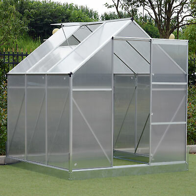 Outsunny 6.2' Outdoor Polycarbonate  Portable Walk-In Garden Greenhouse
