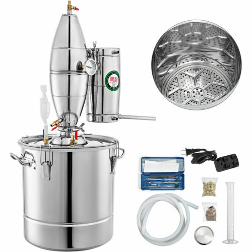 30L Alcohol Distiller Brewing Kit Home Moonshine Still Stain