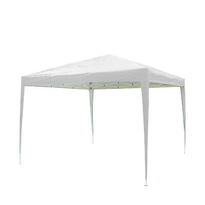 3x3M Pop up Gazebo Waterproof Marquee Canopy Garden Wedding Party Tent White