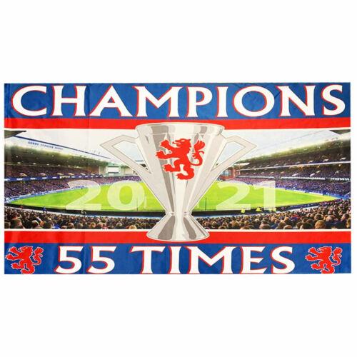 Giant Rangers 2021 Scottish League 55 Times Champions Flag (5ft x 3ft)