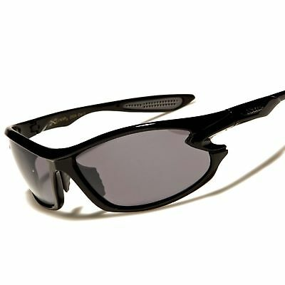 Cool Athletic Golf Baseball Black Frame Wrap Around Rectangle Sport Sunglasses