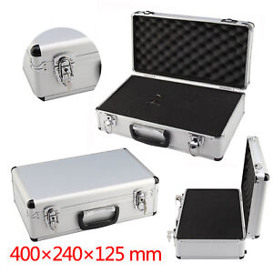 ALUMINIUM FLIGHT CASE FOAM MICROPHONE CAMERA PHOTOGRAPHY CARRY LOCK STORAGE BOX