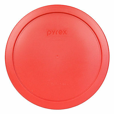 Pyrex Red Plastic Round 6 / 7 Cup Storage Lid Cover 7402-PC for Glass Bowl Lid Plastic Lids