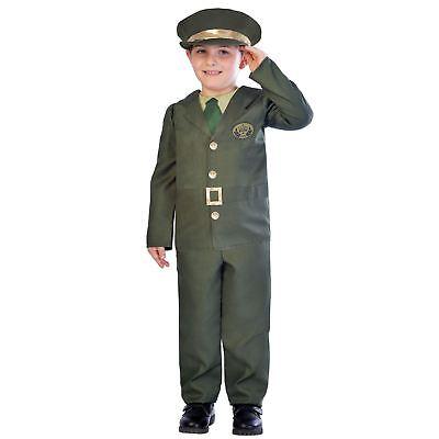 Kinder Jungen Kriegszeit Militär Armee Offizier Britisch Kostüm - Kinder Krieg Kostüme