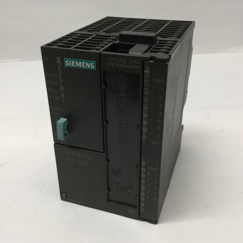 Siemens 6ES7 312-5AC01-0AB0 CPU312 Simatic PLC Central Processing Unit 10/6 I/O