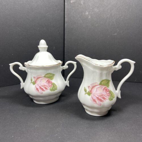 WALBRZYCH China Briar Rose (WLB35) Creamer & Sugar Bowl from Poland