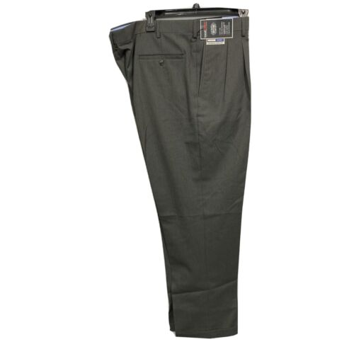 Roundtree & Yorke Travel Smart Classic Fit pleated Cuffed Pants 40×30 Black Clothing, Shoes & Accessories