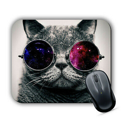 COOL CAT MOUSE MAT Pad Cute Sunglasses Kitten Computer PC Laptop Mac iMac Gaming