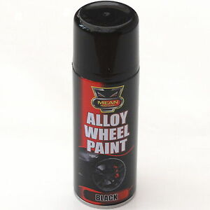 17 x 200ml black satin alloy wheel spray can restorer car bike auto paint ebay. Black Bedroom Furniture Sets. Home Design Ideas