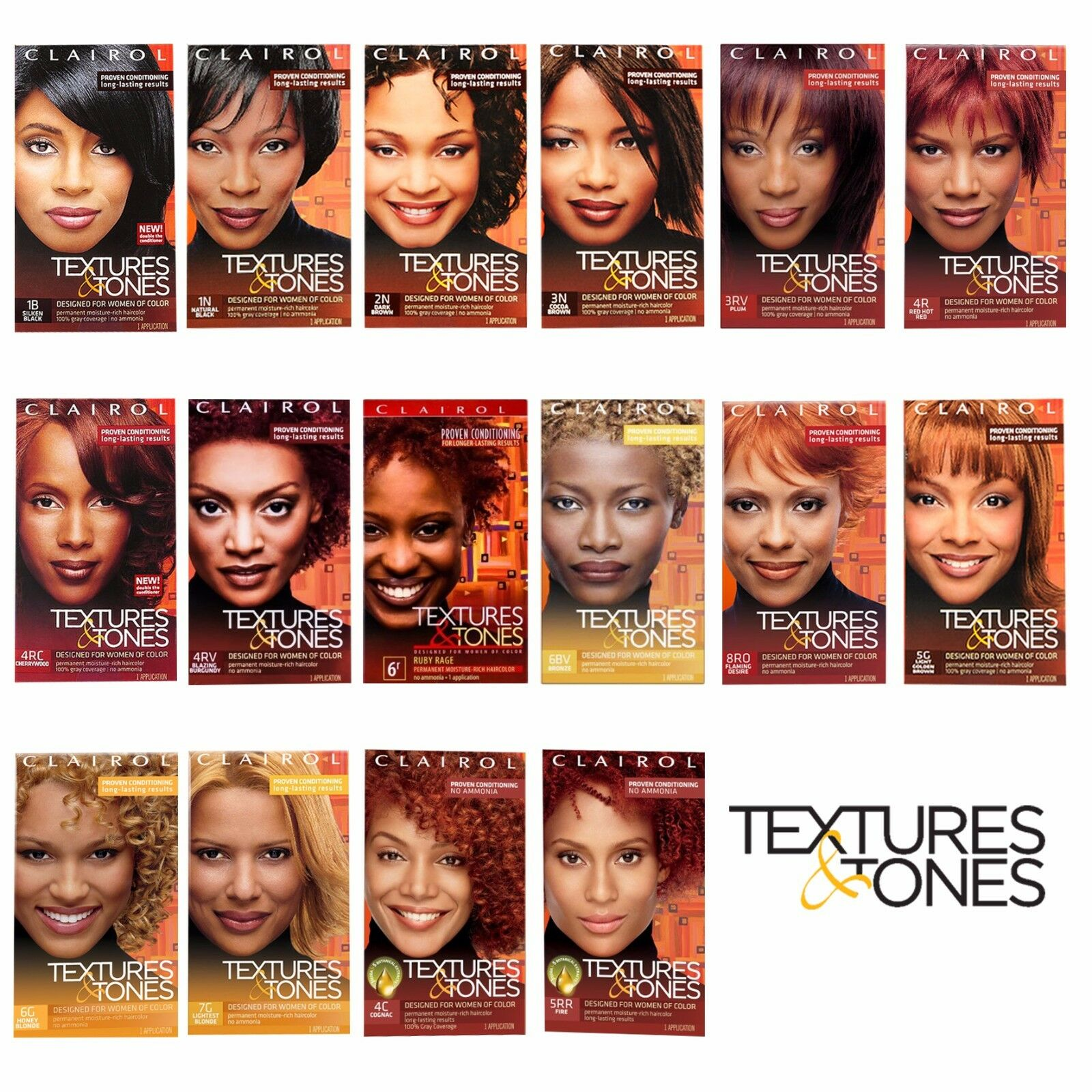 Texture And Tones Hair Color Chart