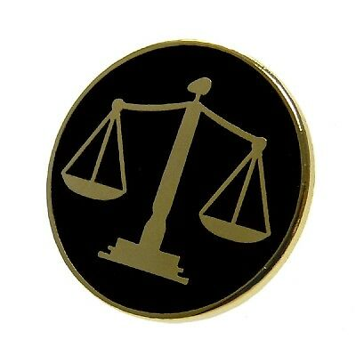 Scales of Justice Lapel Pin Judge Courts Law Paralegal Lawyer Attorney