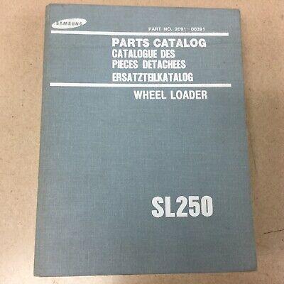 Samsung Volvo Sl250 Parts Manual Catalog Book List Wheel Loader Guide 2091-00391